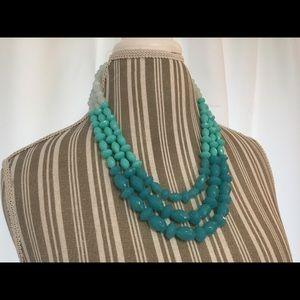 Talbots ombré statement necklace NWT